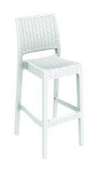 Barová stolička z umelého ratanu