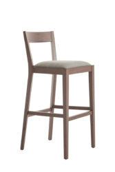 Drevená barová  stolička