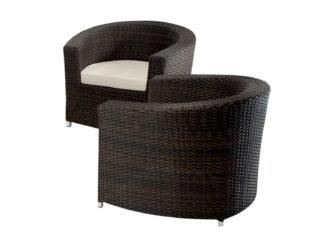 Fotel z polyratanu