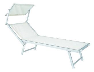 Plážové lehátko z hliníkovej konštrukcie
