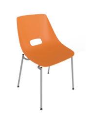 Stolička z kovovej konštrukcie