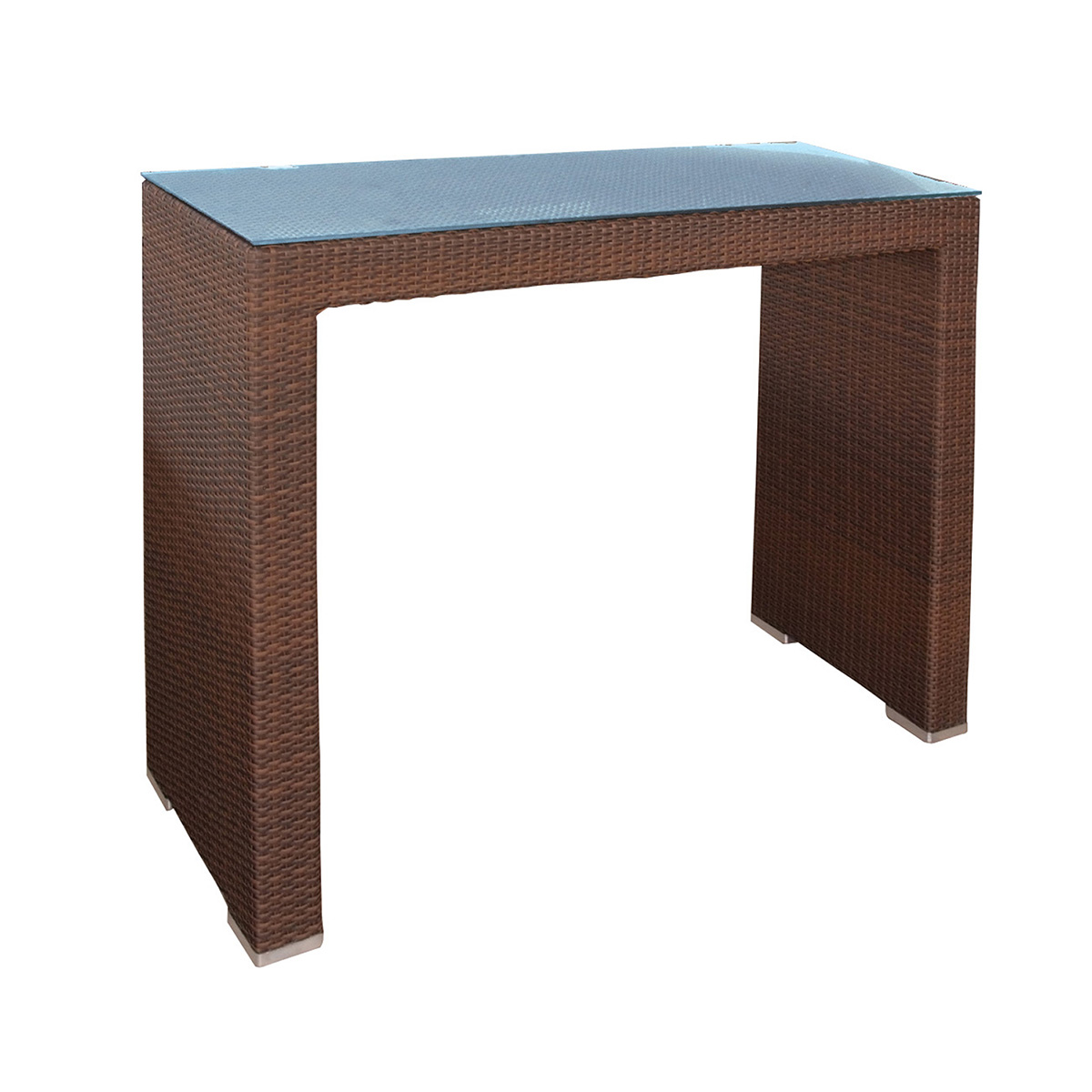 Barový stôl z umelého ratanu