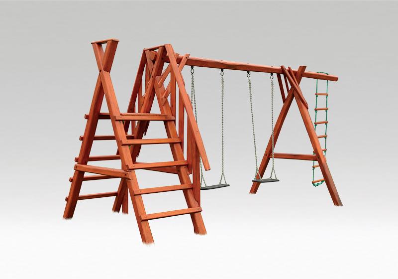 Exteriérové hračky z agátového dreva