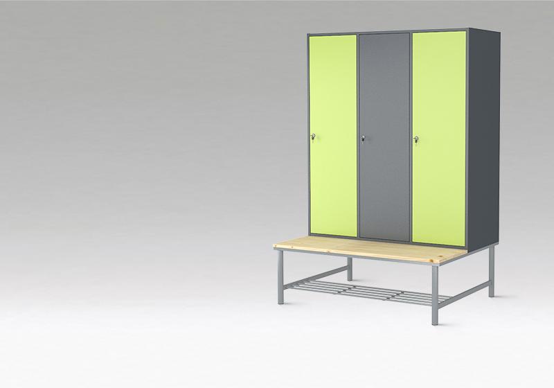 Šatňové skrine s lavičkou