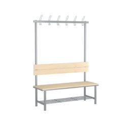 Fitt jednostranná šatňová lavica