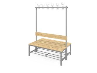 Fitt obojstranná šatňová lavica