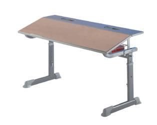 Študentský stôl, buková laminátová doska, na kolieskach