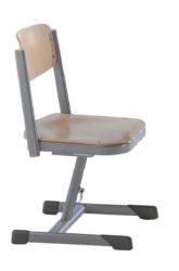 Výškovo nastaviteľná stolička s hojdacím mechanizmom, preglejka