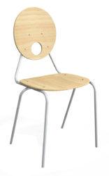 Kaleido stolička, okrúhle preglejkové operadlo a sedák