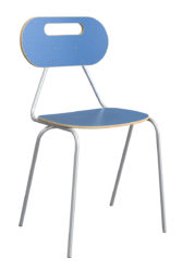 Kaleido stolička, oválne dekoritové operadlo a sedák
