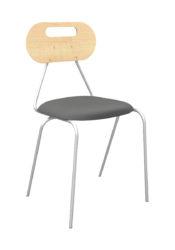Kaleido stolička, oválne dekoritové  operadlo a sedák, čalúnená