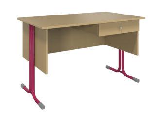 S 1 zásuvkou, laminátová doska stola, nezaoblená