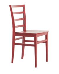 Drevená stolička, čalúnená