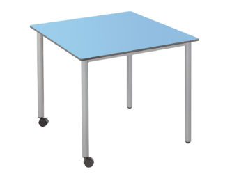 73x73 cm štvorcový stôl, kolieska
