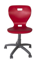 Otočná stolička s plastovým sedákom