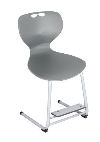 Flex stolička, nastaviteľná podnož nôh, plastový sedák