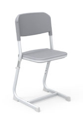 Výškovo nastaviteľná stolička, sedák a operadlo polypropilén