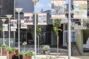 Lavičky a kvetináče Madrid