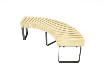 SimpliCity zaoblená lavica