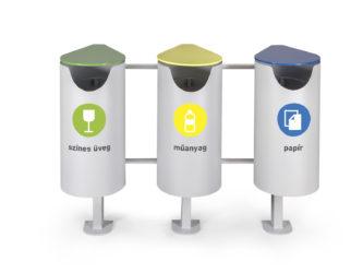 Centrál odpadkový kôš na triedenie odpadu