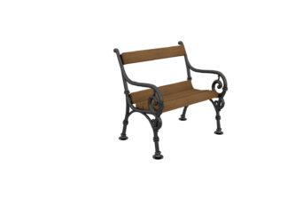 Čík 1 miestna lavica s operadlom