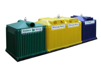Odpadkový kôš na triedenie odpadu