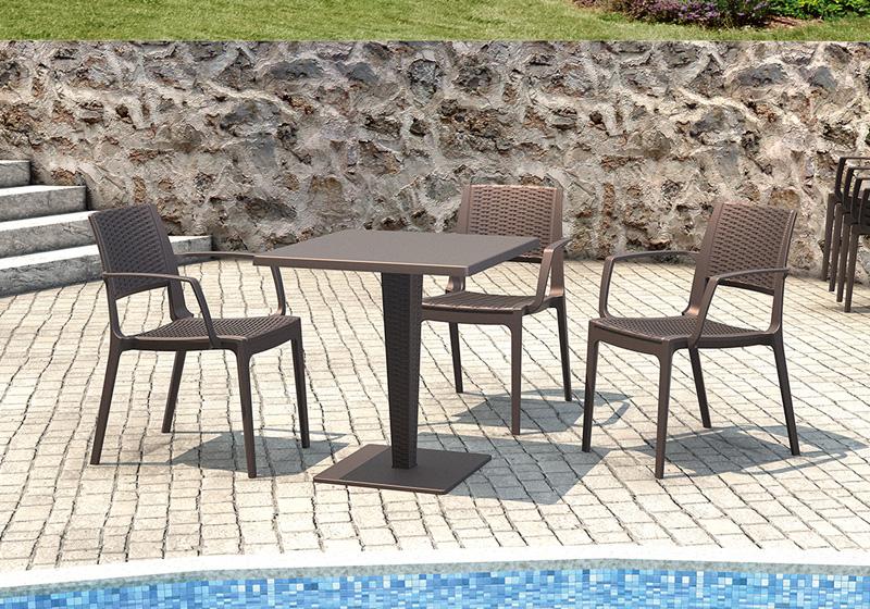 Polyratanová stolička, barová