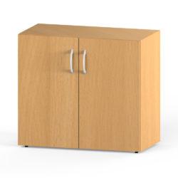 Skriňa, šírka 800 mm, 2 úložné priestory, 2 dverová
