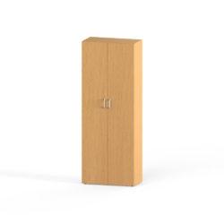 Skriňa, šírka 800 mm, 2 dverová, šatníková, 2 police, tyč na vešanie