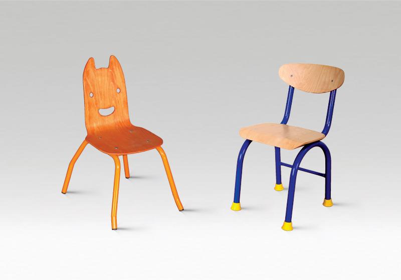 Stoličky s kovovou kostrou