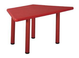 Plastový stôl lichobežník