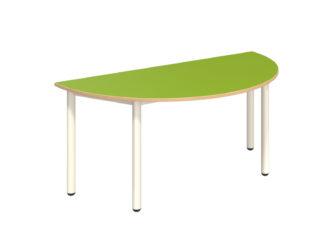 Rozprávkový stôl polkruh s dekoritovou doskou