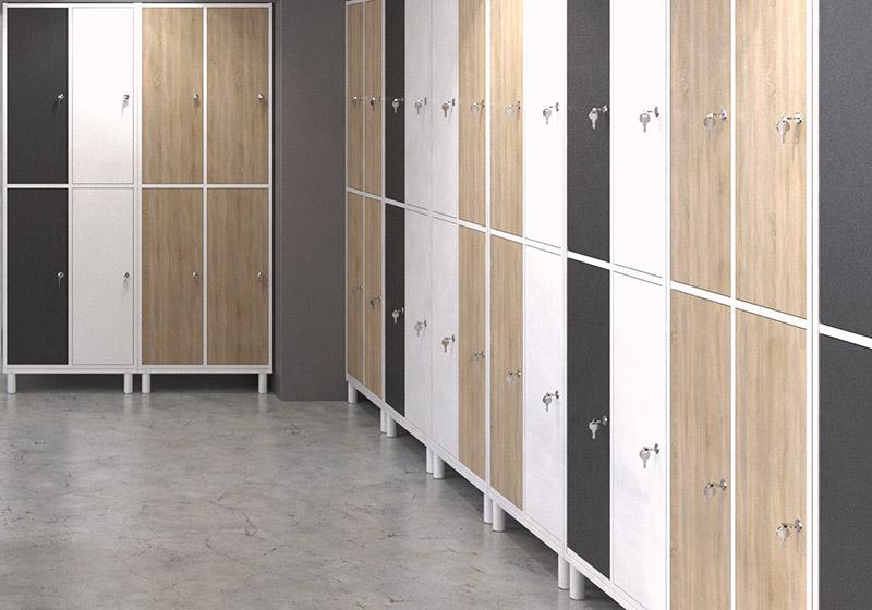 Drevené šatňové skrine