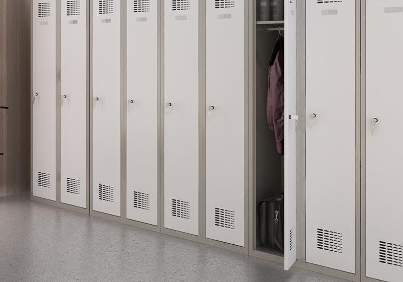 Kovové šatňové skrine