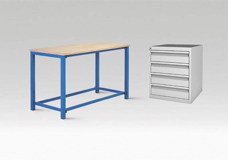 Pracovné stoly, skrine