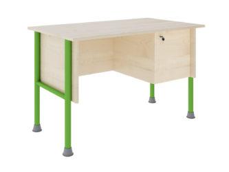 S uzamykateľnou skrinkou, laminátová doska stola, nezaoblená