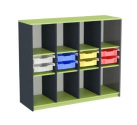 Školská skrinka, na kolieskach, Gratnell's zásuvky