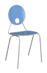 Kaleido stolička, okrúhle dekoritové operadlo a sedák