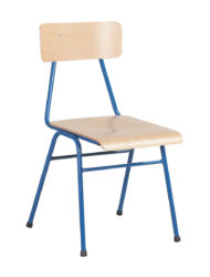 Kovová konštrukcia, sedák a operadlo buková lakovaná preglejka, stohovateľná