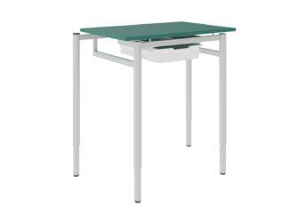 Študentský stôl so zásuvkami, dekorit, rohový