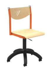 Učiteľská stolička s piestovým mechanizmom, preglejka
