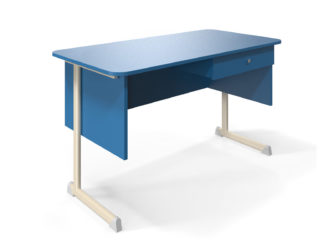 Alex učiteľský stôl, 1 zásuvka, laminátová doska
