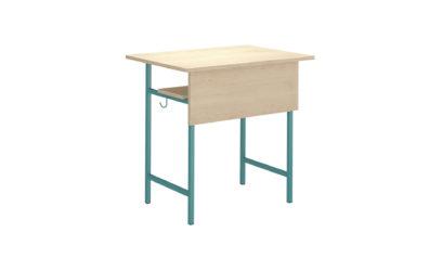 1 miestny študentský stôl, laminátová nezaoblená doska stola