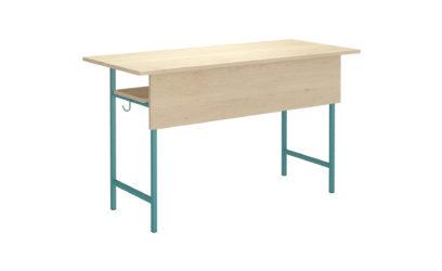 2 miestny študentský stôl, dekoritová nezaoblená doska stola