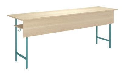 3 miestny študentský stôl, laminátová zaoblená doska stola