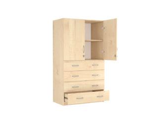 dole 4 zásuvky, horná časť 2-dverová