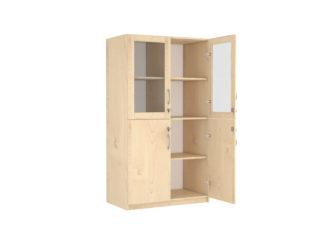horná časť sklenené dvere, dolná časť 2-dverová