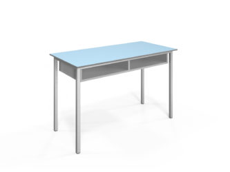 2 miestny laboratórny stôl s policami