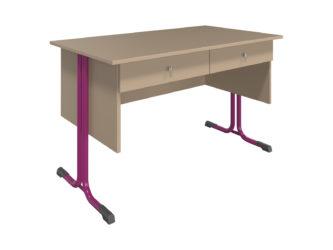 S 2 zásuvkami, laminátová doska stola, nezaoblená