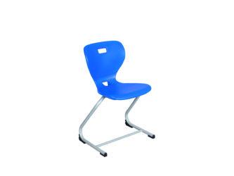 Flex stolička, C nohy, plastový sedák